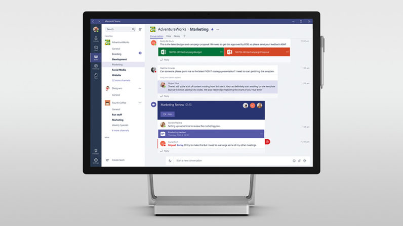 Microsoft Teams launches next week to take on Slack