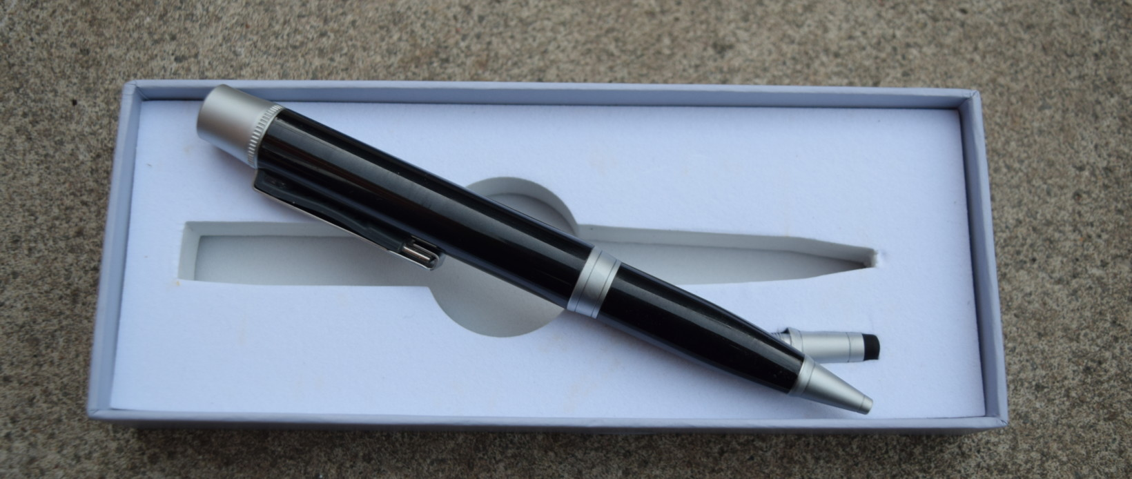 Beyond Ink is a pen with a built-in battery and USB drive