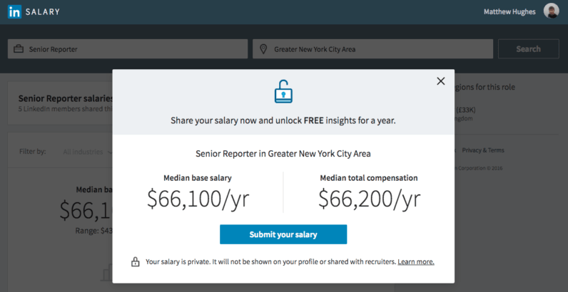 LinkedIn's Salary tool will tell you if you're being underpaid