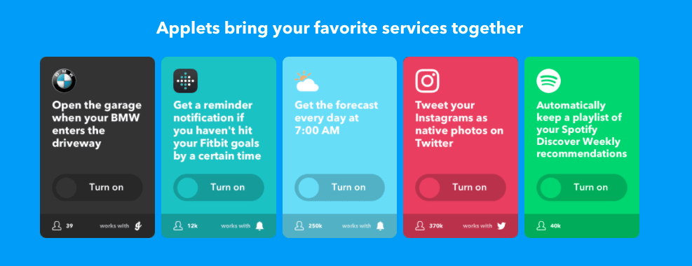 IFTTT says goodbye to recipes, hello to Applets