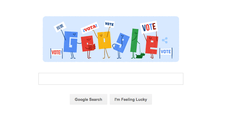 Google's latest doodle will help you find your nearest polling place
