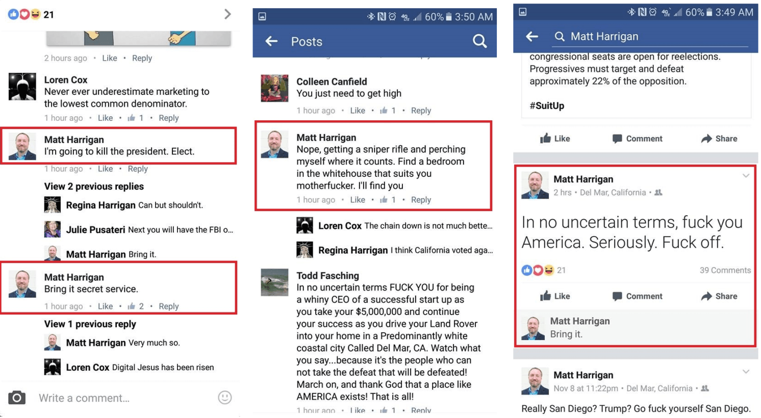 Idiot CEO threatens to kill Donald Trump on Facebook, gets fired for it