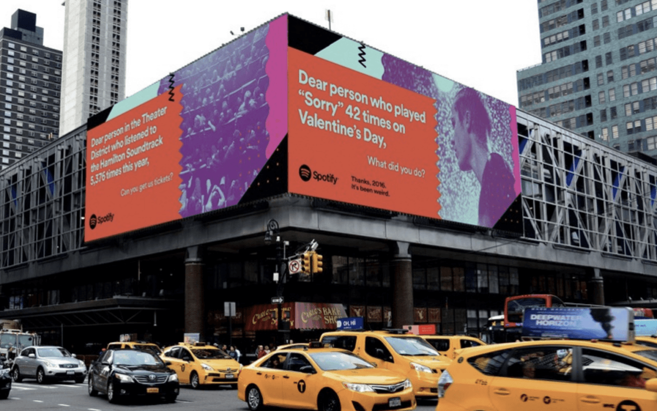 Spotify is using billboards to call users out on their questionable listening habits