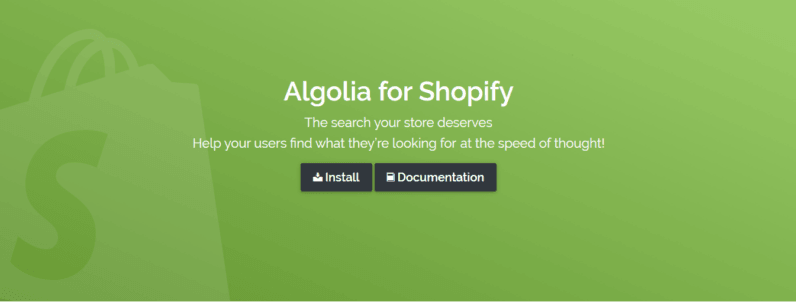 Search-as-a-Service company, Algolia, now integrates with Shopify