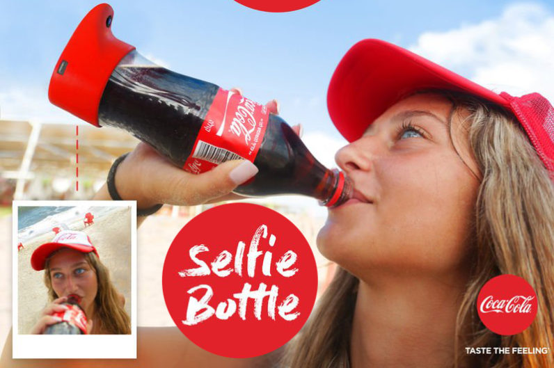 coca-cola selfie bottle