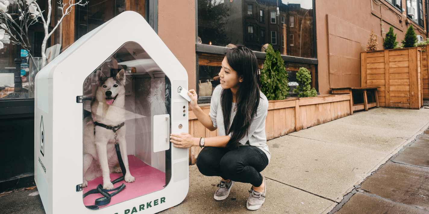 Dog Parker is a high-tech parking spot... for your dog
