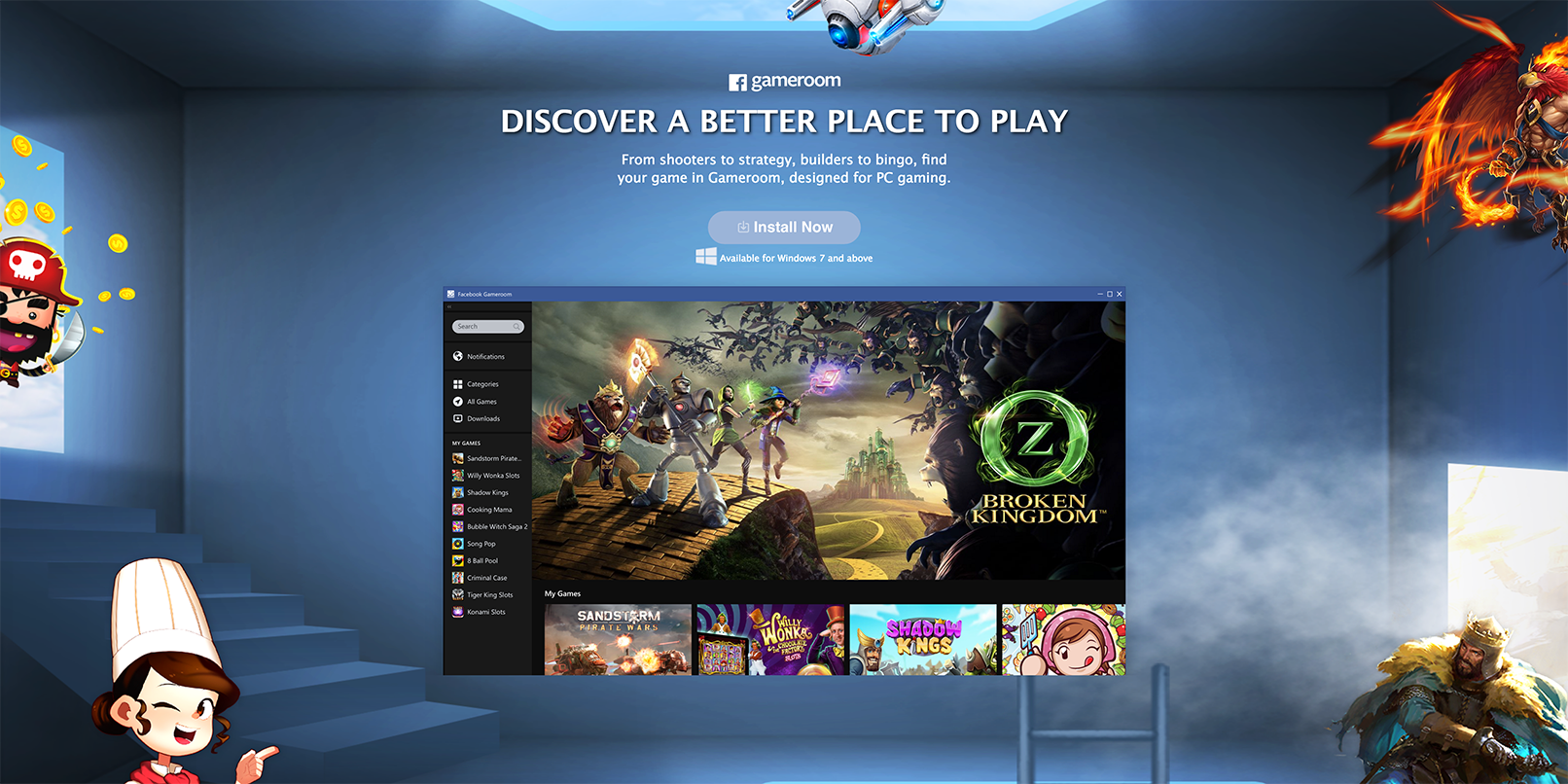 Facebook has Steam in its crosshairs with new 'Gameroom' platform