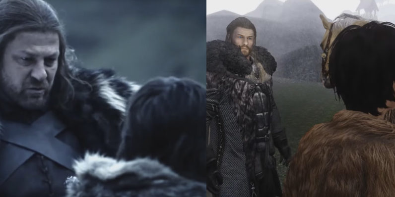 game of thrones trailer remake in skyrim