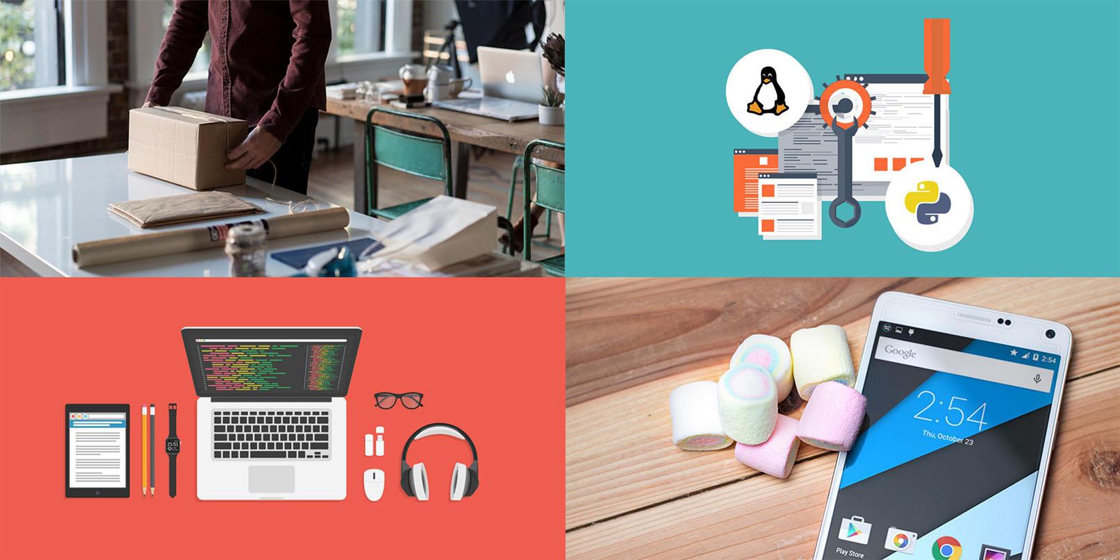 Check out our killer lineup of training packages on everything from coding to entrepreneurship -- all at any price you want to pay