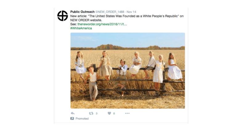 twitter, supremacist supremacy ad