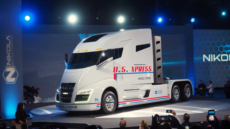 Nikola One electric semi-truck debuted on Thursday