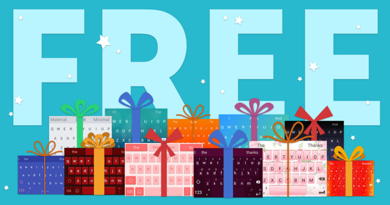 SwiftKey makes all themes free for the holidays