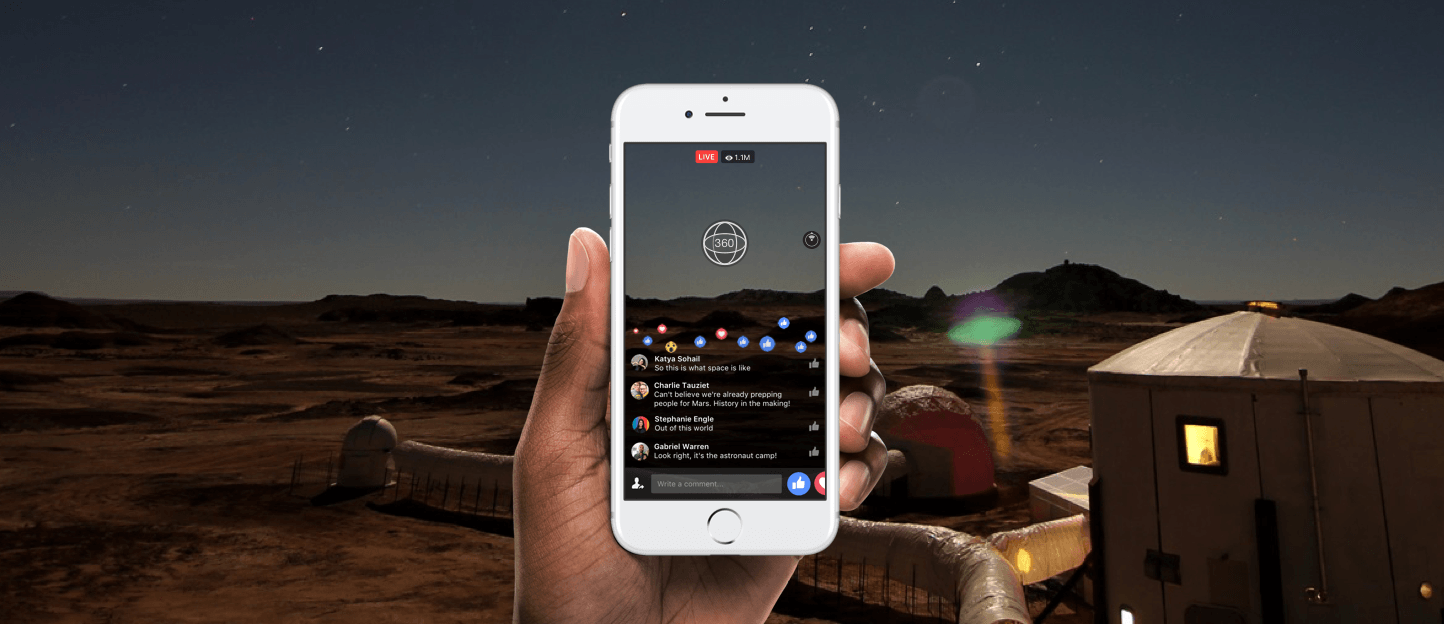 Facebook Live video goes 360, but not for everyone
