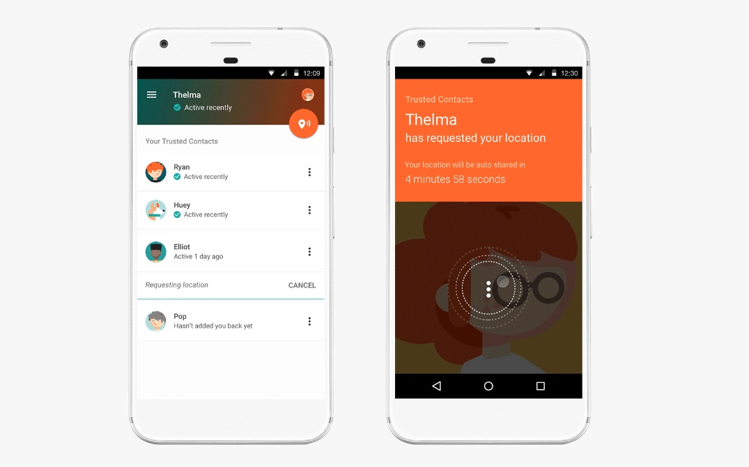 Google's new Trusted Contacts app shares your location with loved ones
