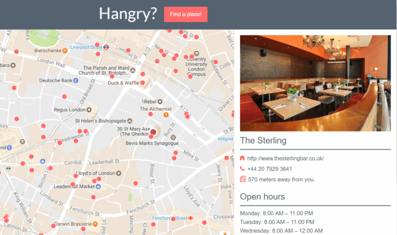 Hangry will solve the age-old problem of finding somewhere to eat