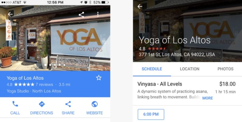 Google's new tool makes it easy to reserve your next spin class