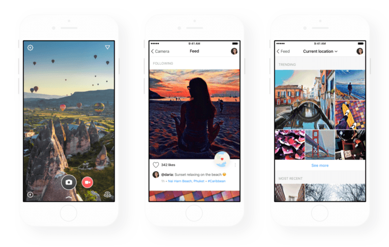 prisma s filter app gets a clever location based photo feed in huge