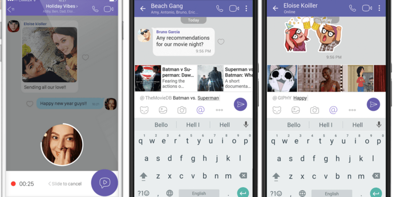 Viber update adds instant video messages and chat extensions
