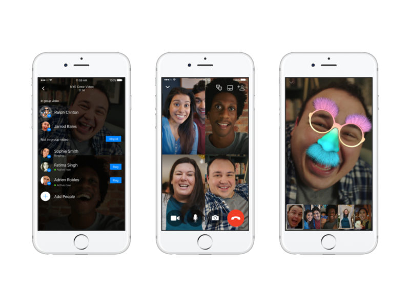 Facebook Messenger adds group video chat for up to 50 people