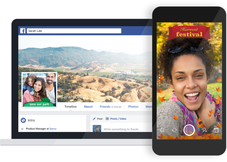 Facebook tests letting anyone upload Snapchat-like photo frames