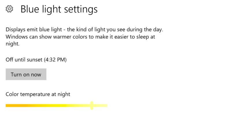 Windows 10 gets a blue light filter, emoji shortcut, and more in huge Insider update