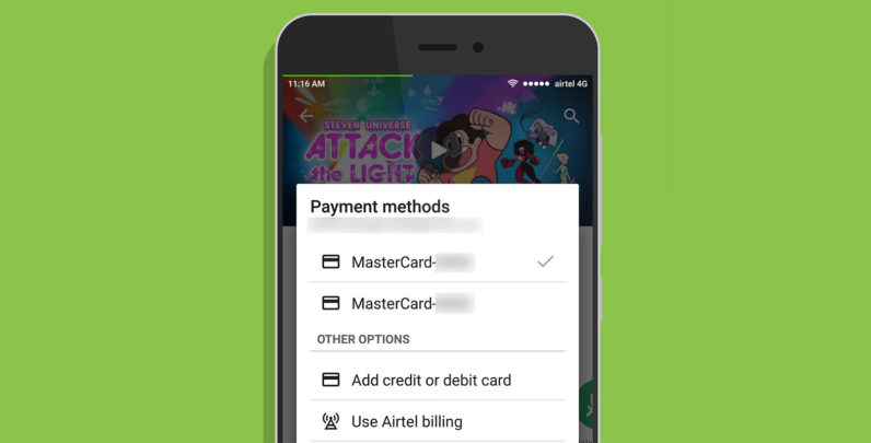 Google Play is bringing carrier billing in India to Airtel and Vodafone users