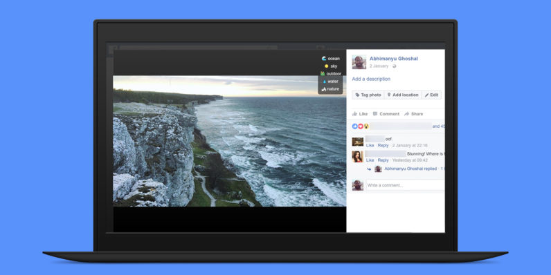 This extension shows you just how smart Facebook's image recognition is