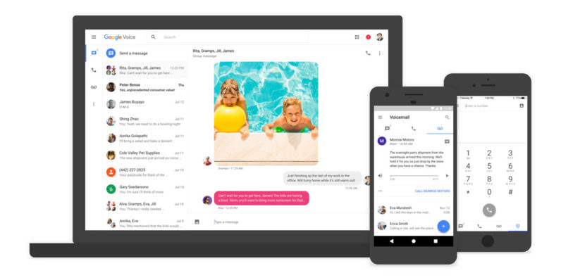 Google Voice gets a fresh coat of paint and group messaging features
