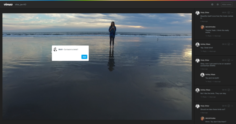 Vimeo now lets video creators collaborate and review in real-time