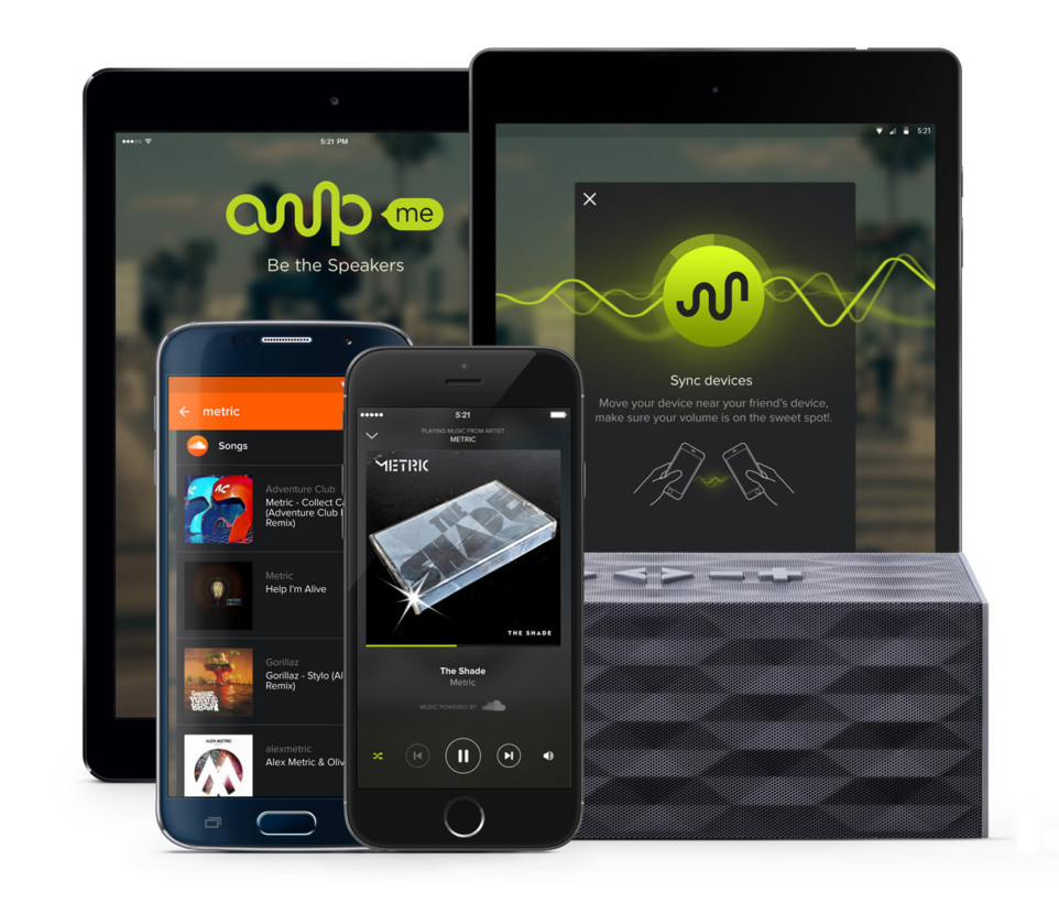AmpMe is a party in your pocket that connects multiple