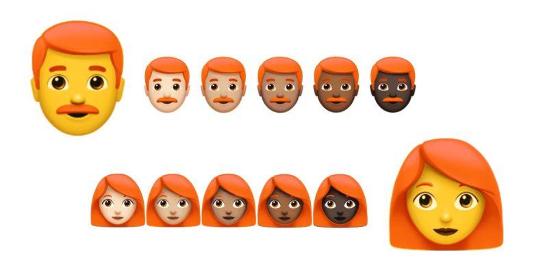 redhead emoji, emoji