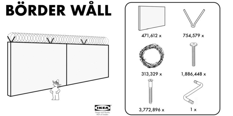 Faux IKEA ad offers President Trump an affordable 'Börder Wåll'