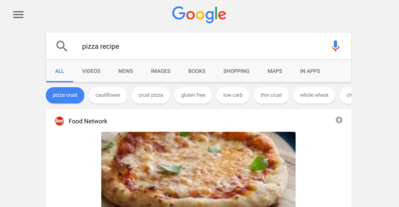 Google cooks up advanced recipe search