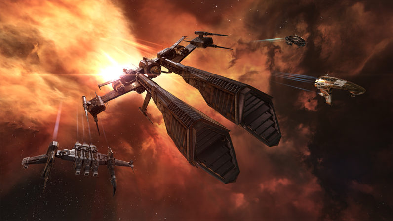 A million-dollar space battle is happening now… in a video game