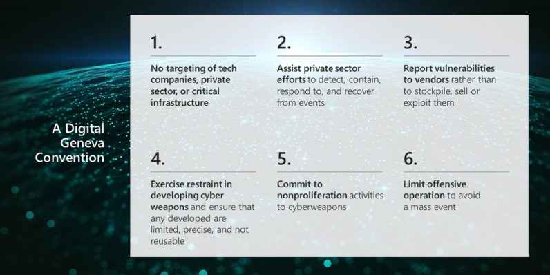 Microsoft calls for a 'Digital Geneva Convention'