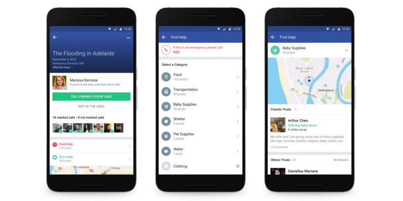 Facebook's Safety Check now helps you find and offer help in crisis situations