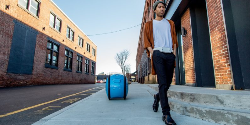 This robot butler follows you around and carries your stuff