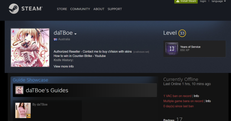 A nasty vulnerability in Steam profiles potentially lets hackers