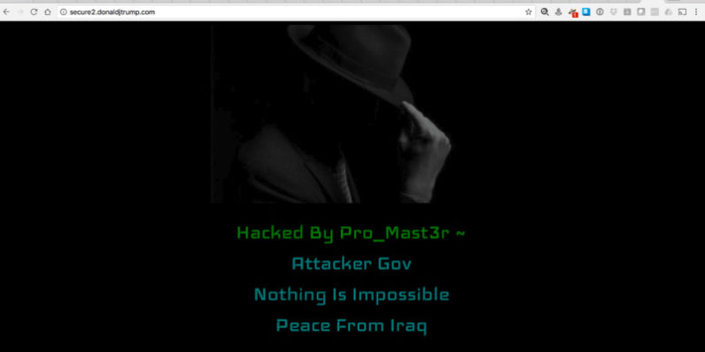 Trump site hacked by attacker purportedly from Iraq