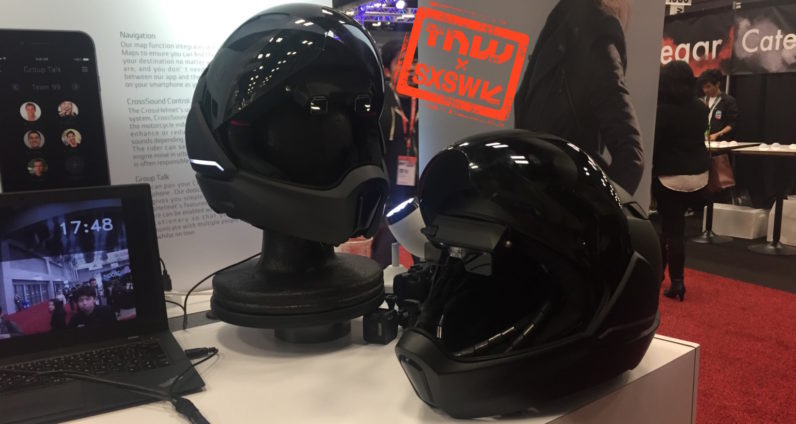Smart motorcycle helmet comes with speakers and rearview camera