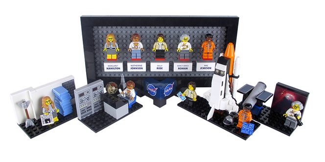 LEGO immortalizes NASA women in brick form