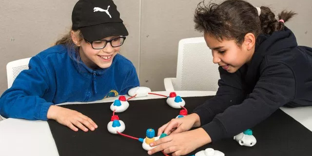 Microsoft designed these colorful toys to teach blind kids to code