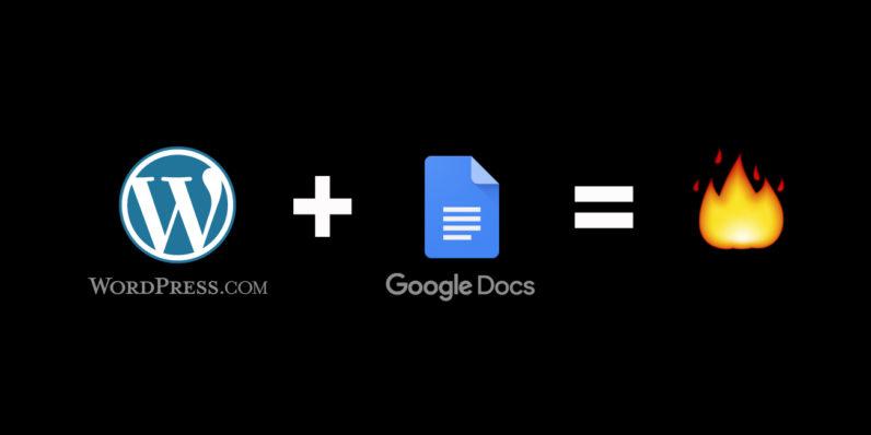 wordpress, google docs
