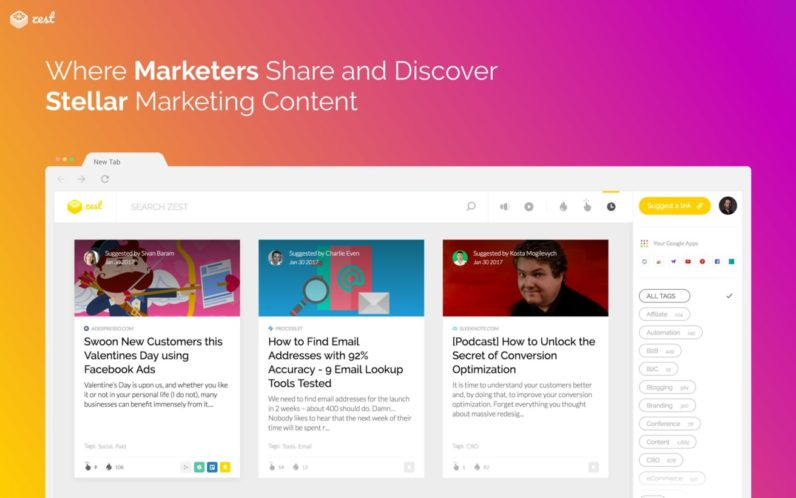 Zest launches, killing flippant marketing content by harnessing a community of experts