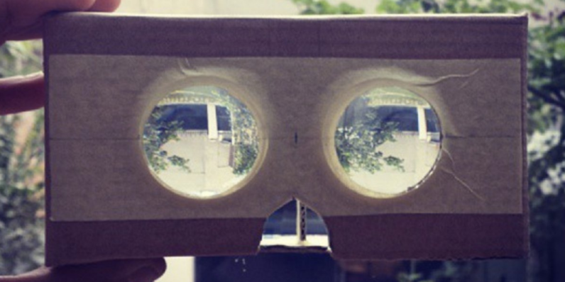 Feast your eyes on the first Google Cardboard prototype