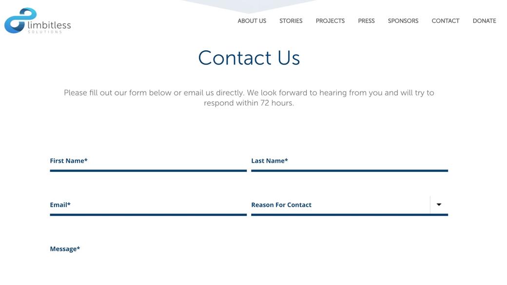Limbitless Solutions Contact