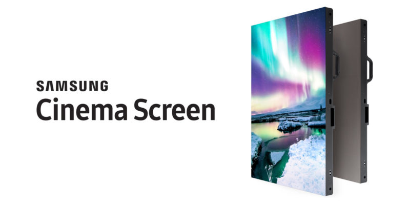 samsung, cinema screen, hdr, led