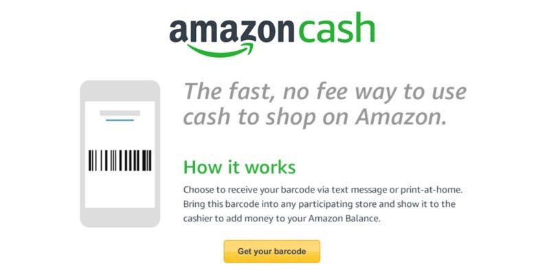 Amazon Cash eliminates need for bank cards
