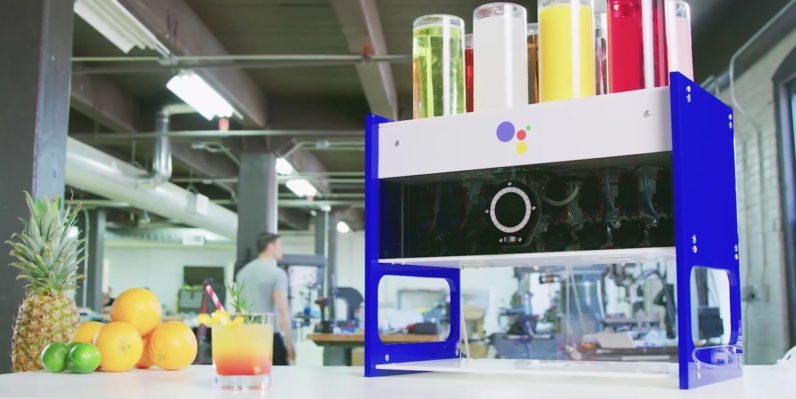 Google opens up the Google Assistant to developers, shows off mocktail mixer to prove it