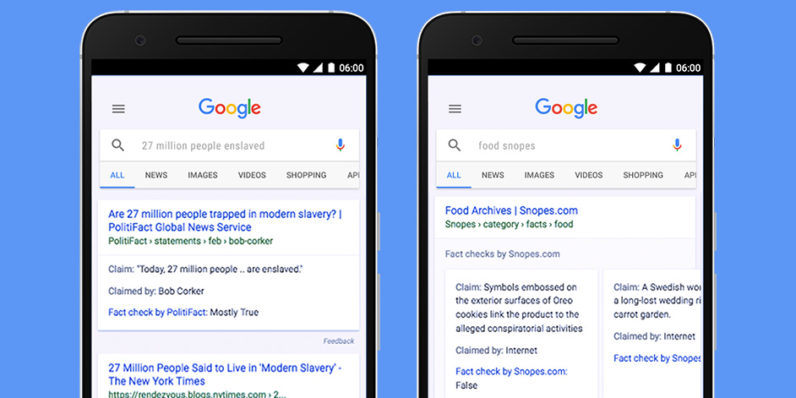 Google adds fact check to global search results in the war against fake news